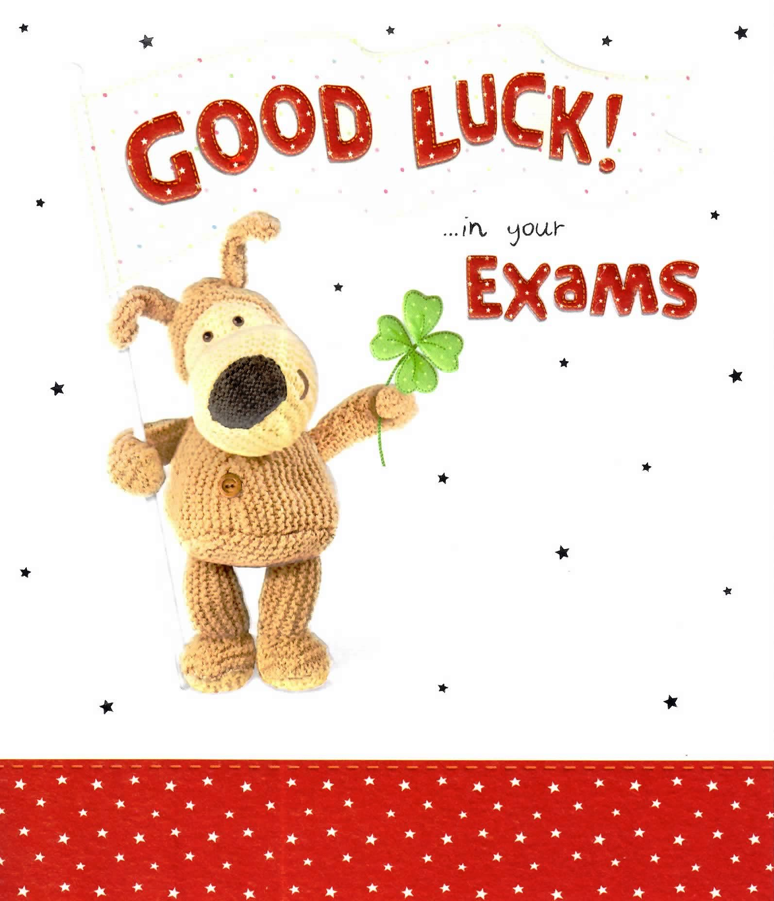 Boofle Good Luck In Your Exams Greeting Card Regard To Best Wishes For Exams Cards