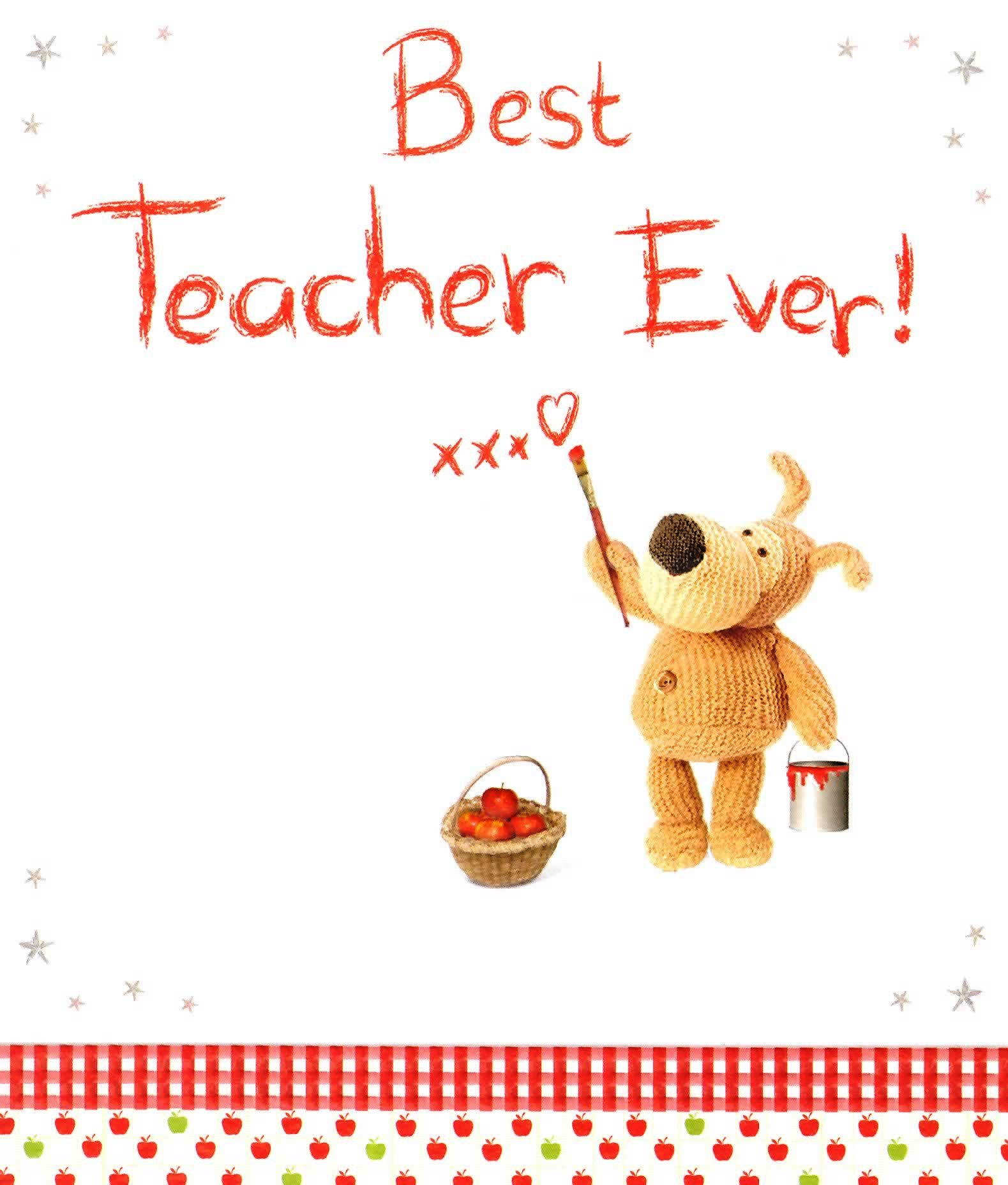 Boofle Best Teacher Ever Greeting Card Official Boofle