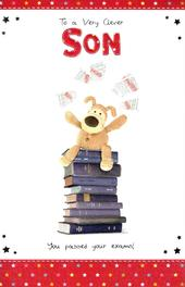 Boofle Clever Son You Passed Exams Congratulations Card