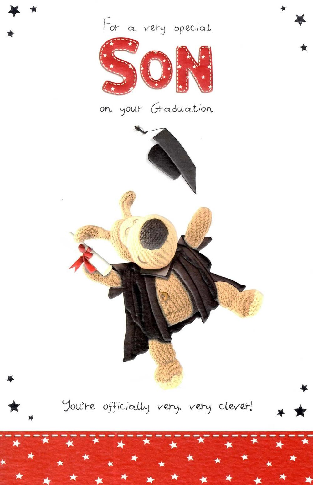 Boofle Very Clever Son Graduation Congratulations Card