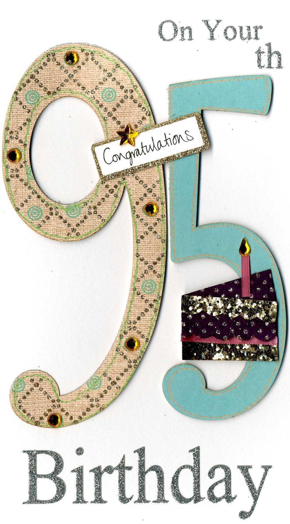 Gorgeous 95th Age 95 Birthday Greeting Card