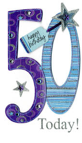 Gorgeous 50th Age 50 Birthday Greeting Card