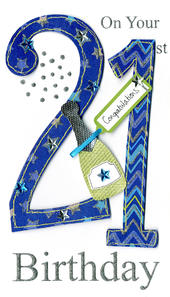Gorgeous 21st Age 21 Birthday Greeting Card