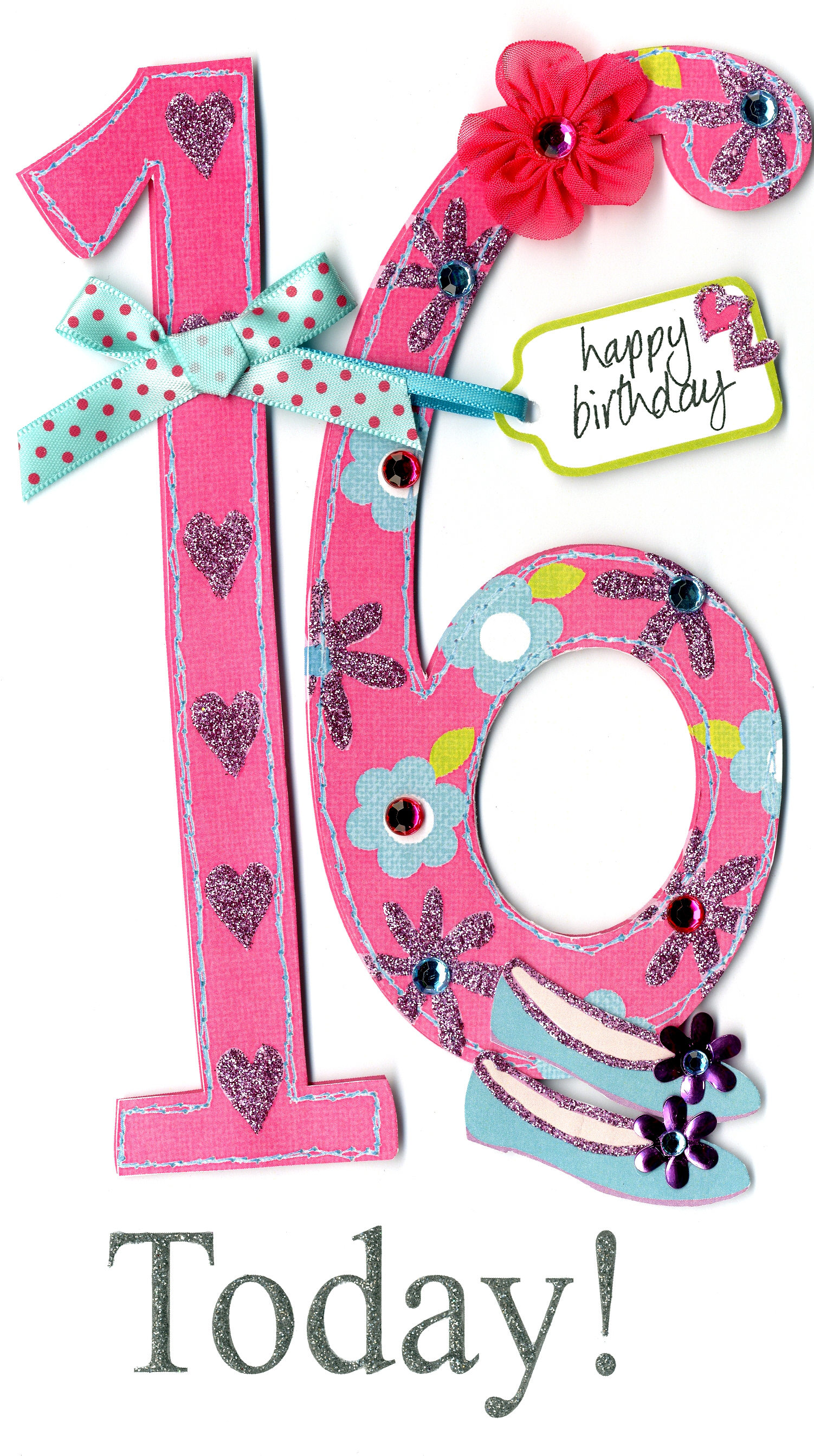 Happy Sweet 16 To Dylan S Candy Bar: Gorgeous 16th Age 16 Birthday Greeting Card
