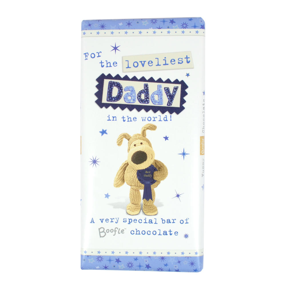 Boofle Loveliest Daddy Bar Chocolate Gift