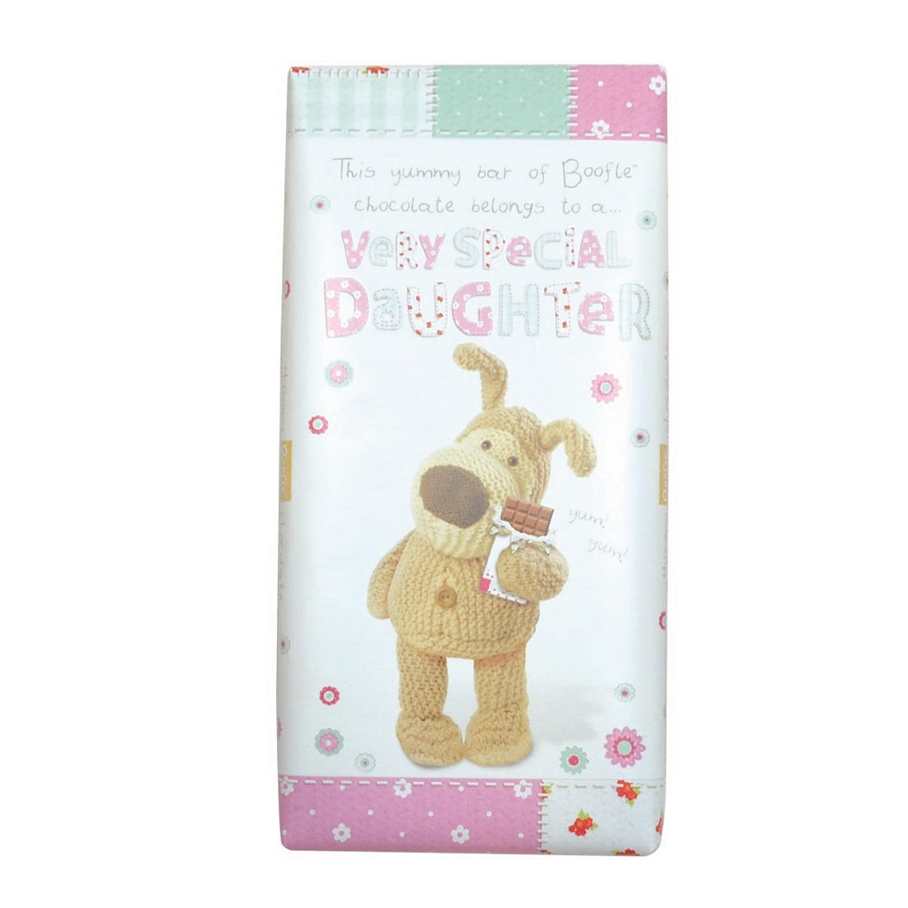 Boofle Very Special Daughter Bar Chocolate Gift