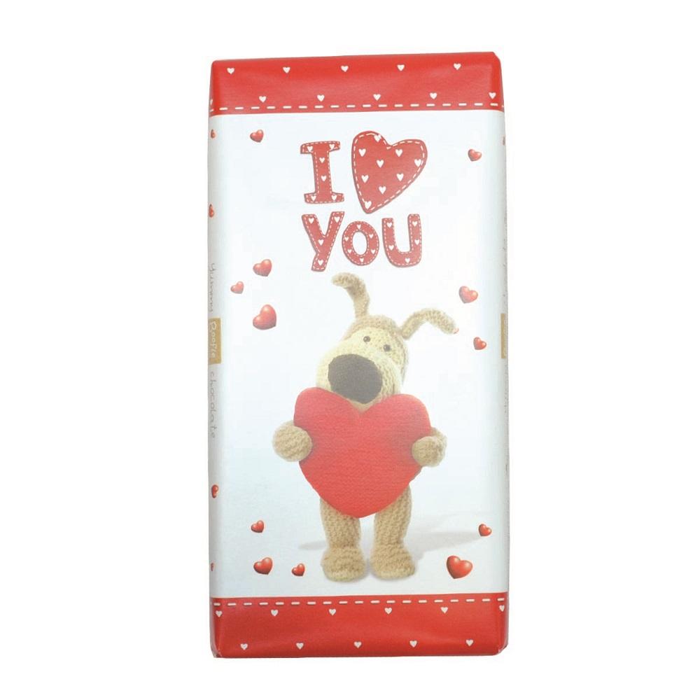 Boofle I Love You Bar Chocolate Gift