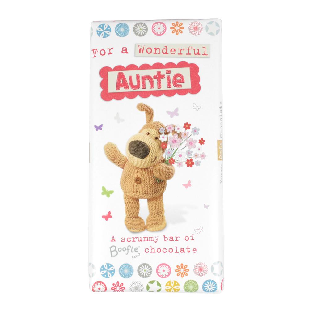 Boofle Wonderful Auntie Bar Chocolate Gift