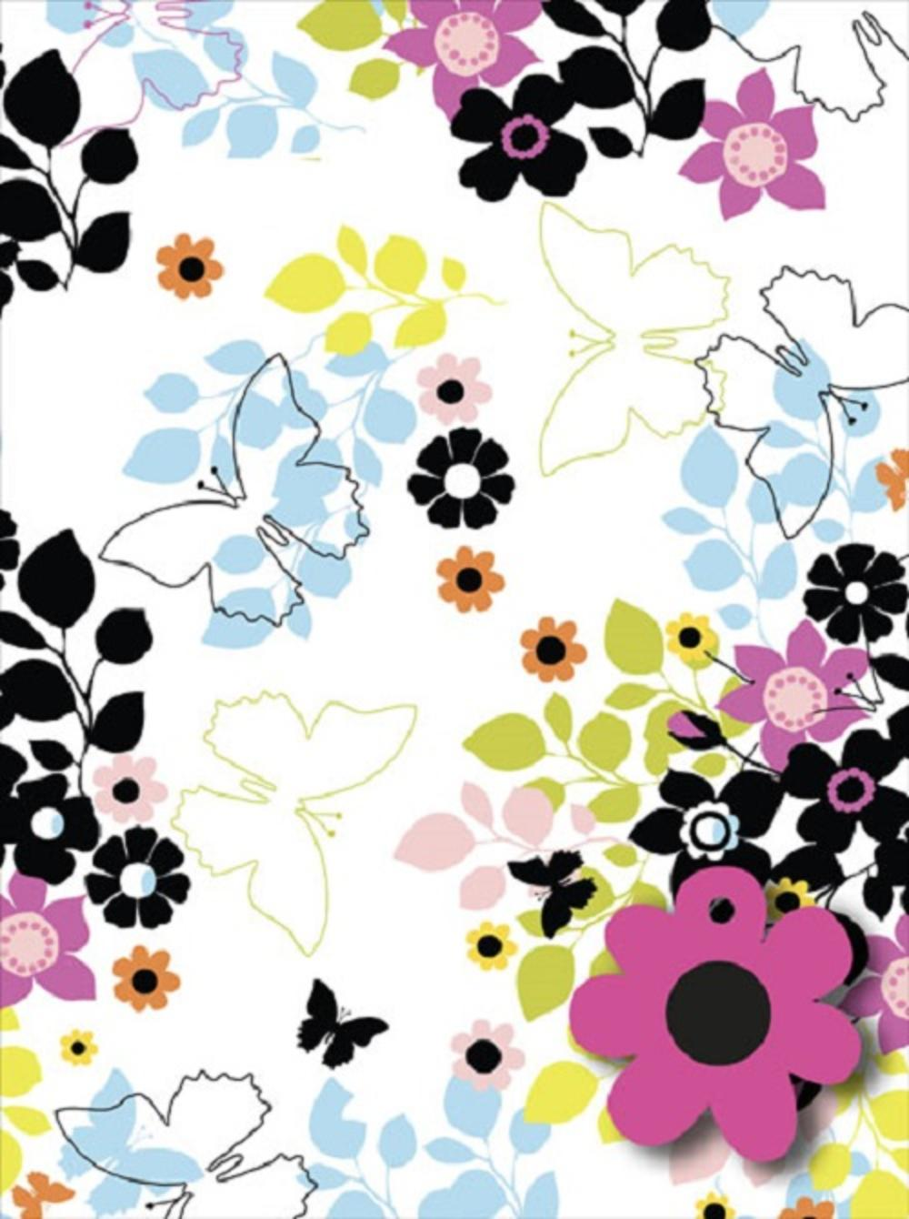 Flower & Butterfly Wrapping Paper Pack Wrap Set