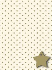 Patterned Gold Star Wrapping Paper