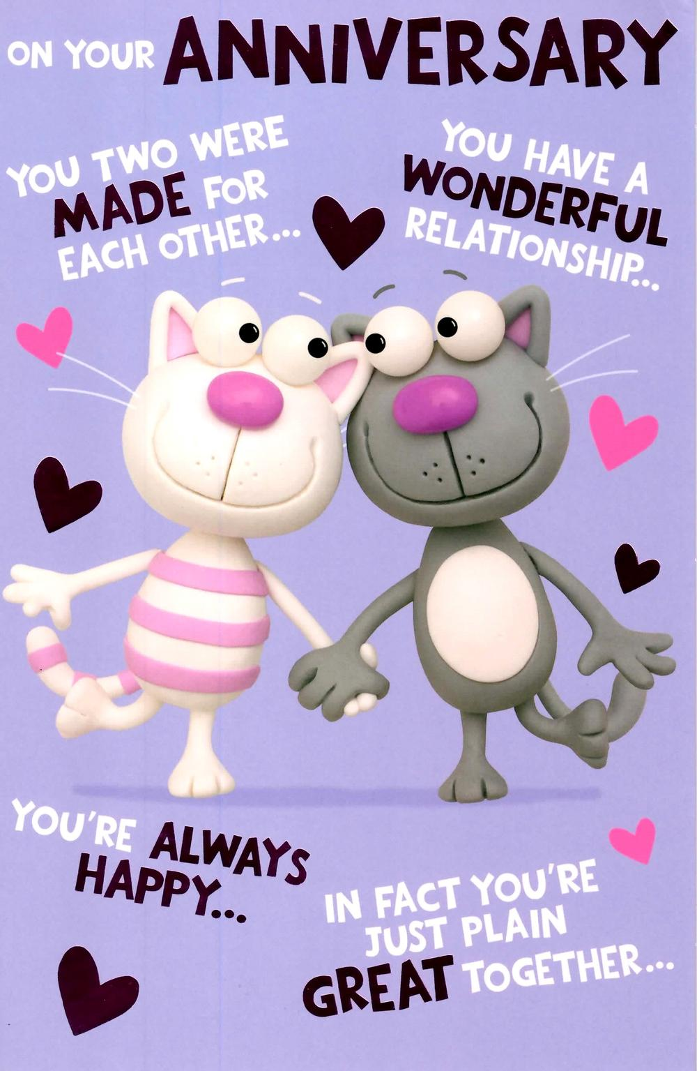 Cute Funny On Your Anniversary Greeting Card