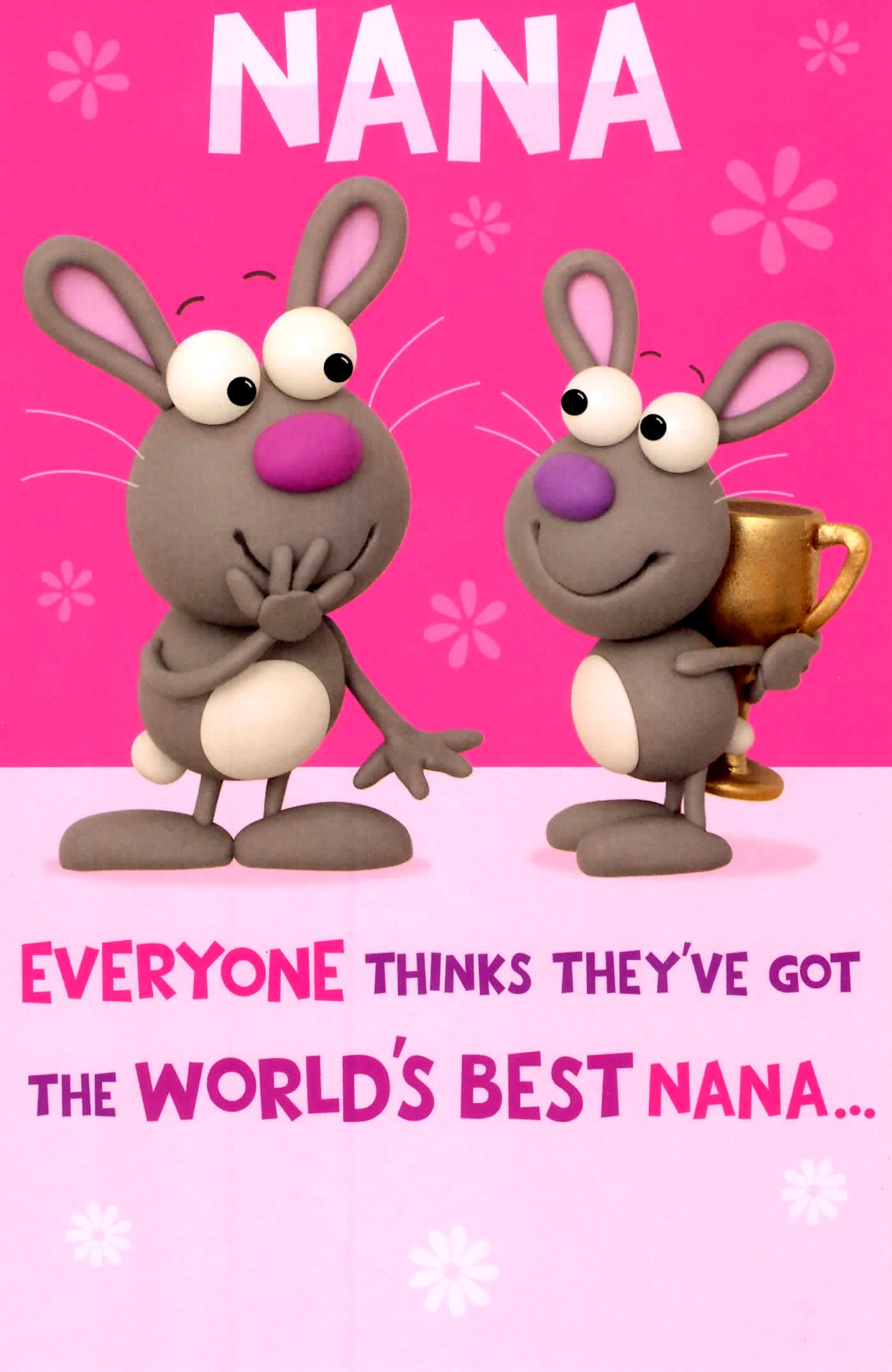 Cute Worlds Best Nana Birthday Greeting Card Crackers Range Cards – Nana Birthday Cards