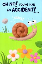 Cute Had An Accident Get Well Soon Greeting Card