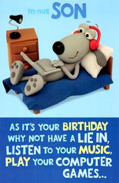 Cute Funny To Our Son Birthday Greeting Card