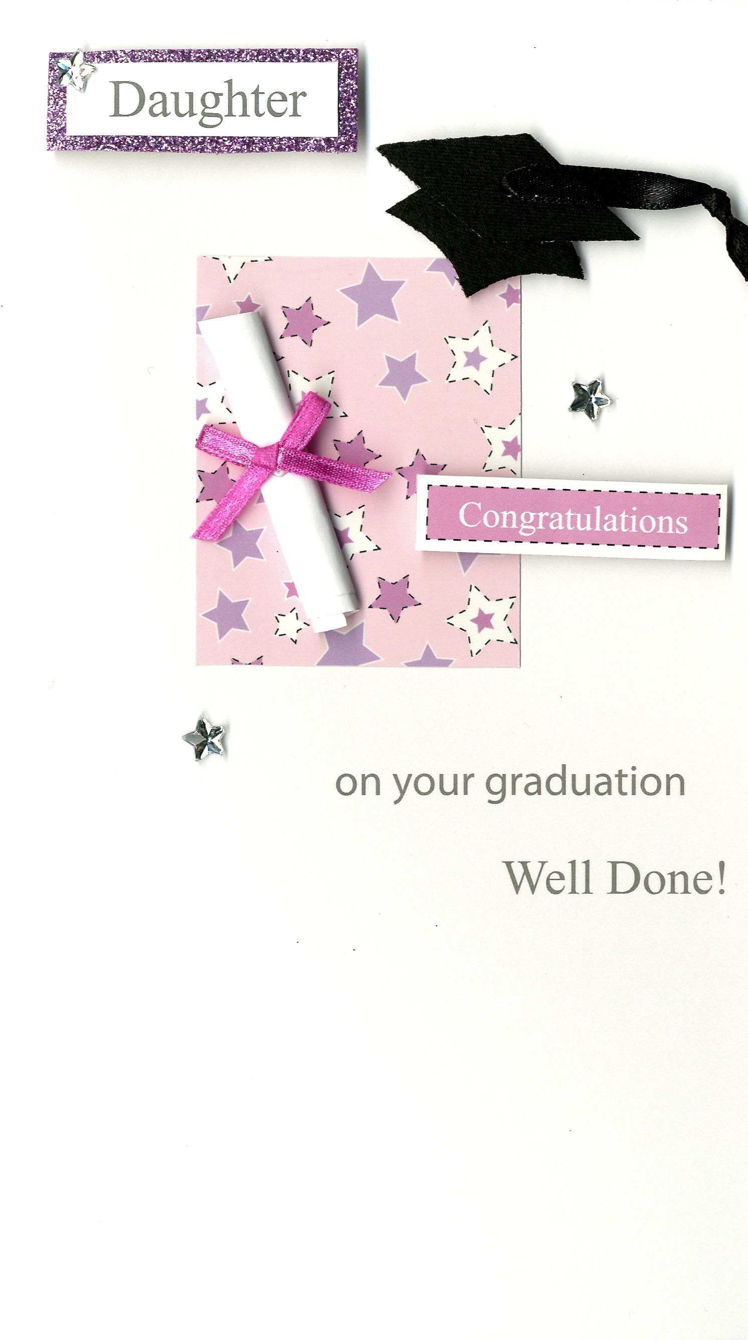Congratulations daughter graduation greeting card hand finished congratulations daughter graduation greeting card hand finished kristyandbryce Gallery