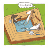 It's A Dog's Life Humour Greeting Card Blank Inside