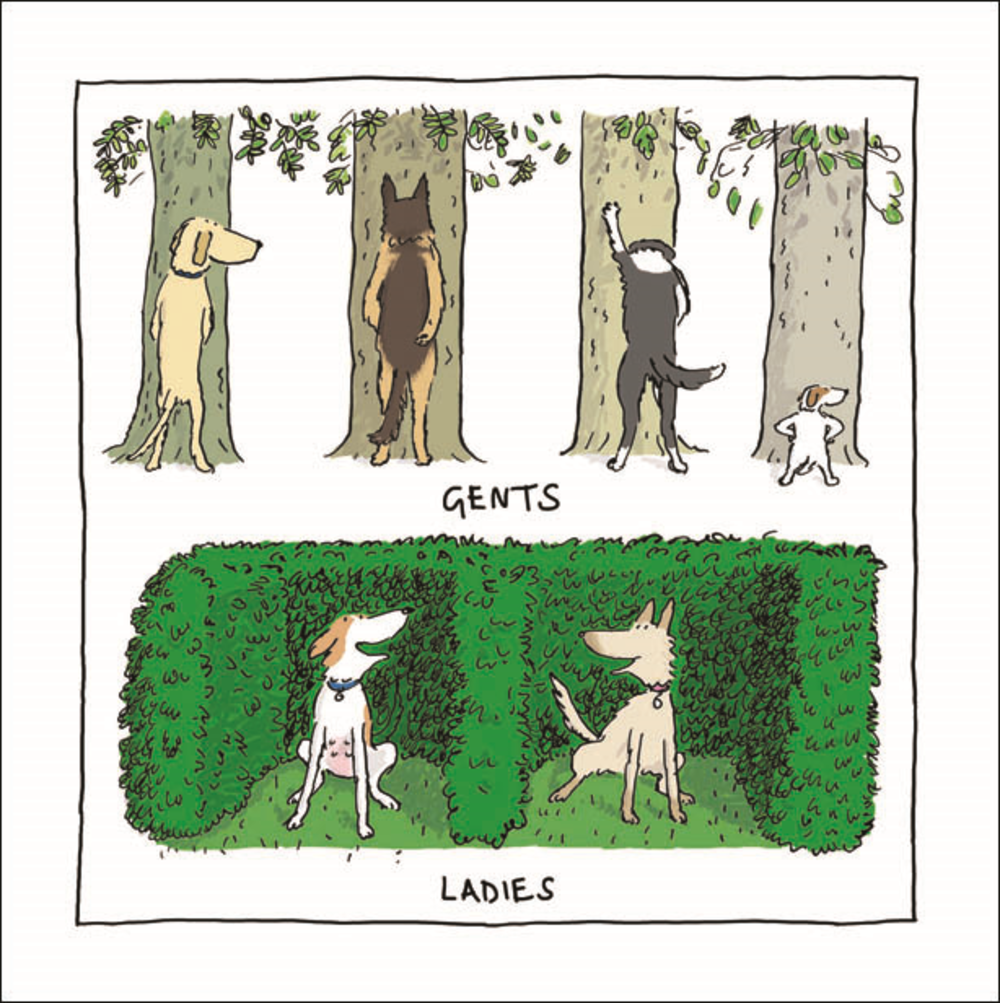 Funny Ladies Gents Dog Humour Greeting Card Blank Inside