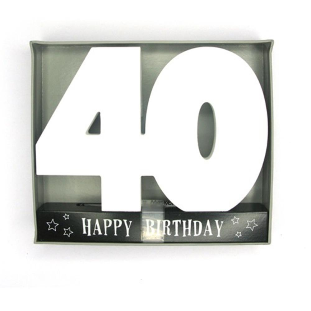 Age 40 Signature Block 40th Birthday Pen Included
