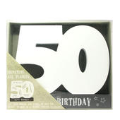 Age 50 Signature Block 50th Birthday Pen Included