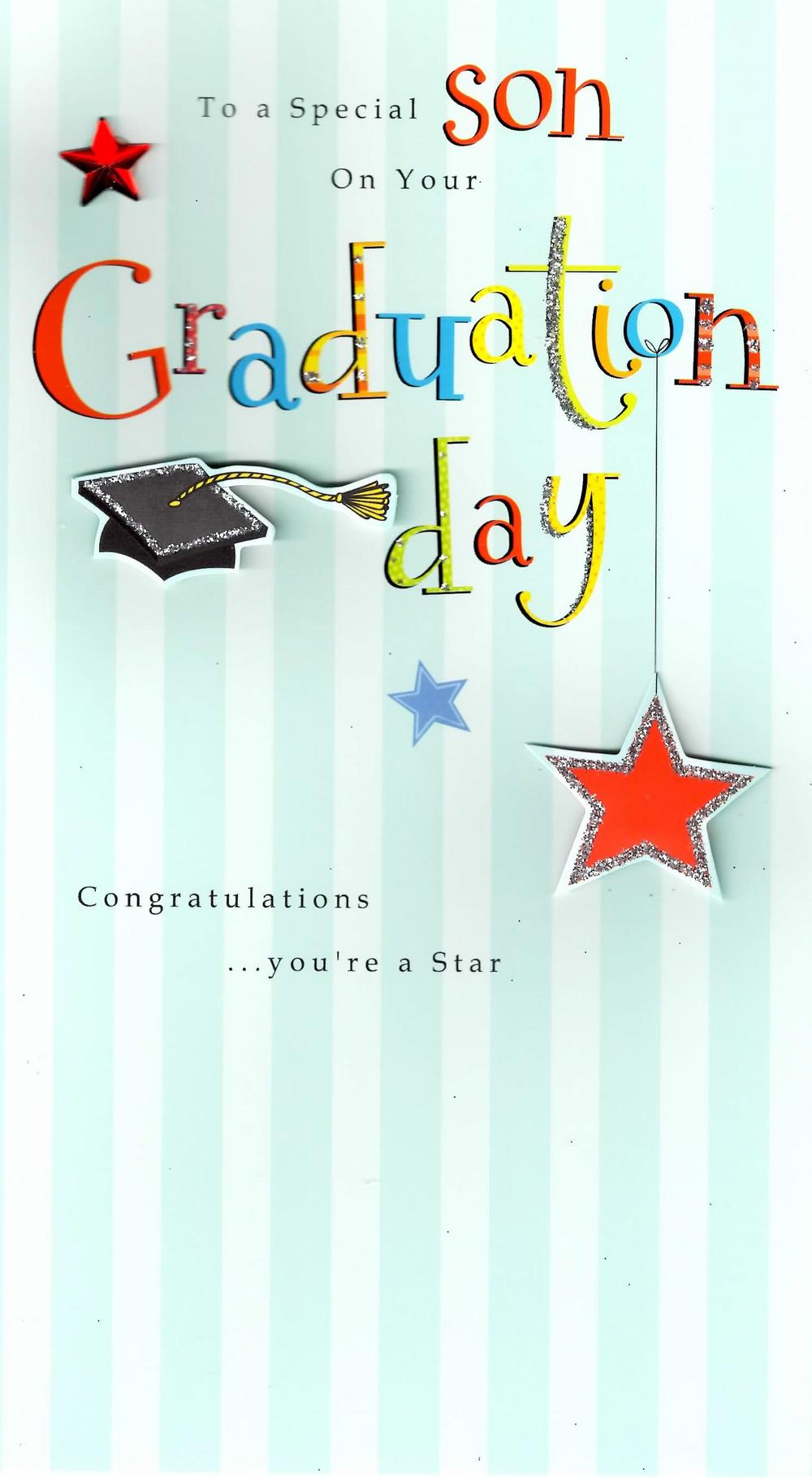 Congratulations Special Son Graduation Greeting Card