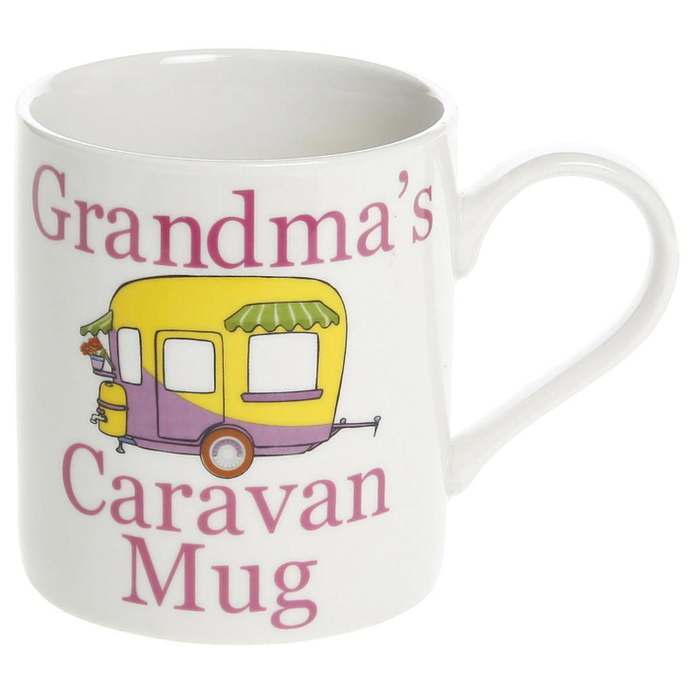 Grandma's Caravan Mug Fine China Mug in Gift Box