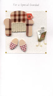 Special Grandad Chair & Slippers Birthday Greeting Card
