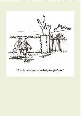 Punch Gardening Cartoon Humour Greeting Card