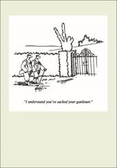 Punch Gardening Cartoon Humour Greeting Card