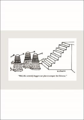 Punch Dr Who Daleks Cartoon Humour Greeting Card