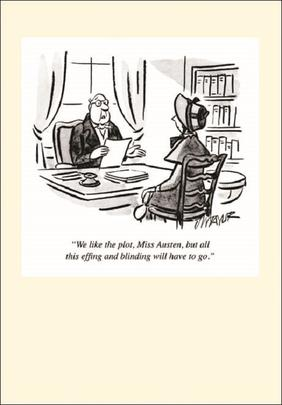Punch Jane Austen Cartoon Humour Greeting Card