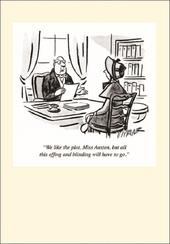 Punch Jane Austen Cartoon Humour Greeting Card