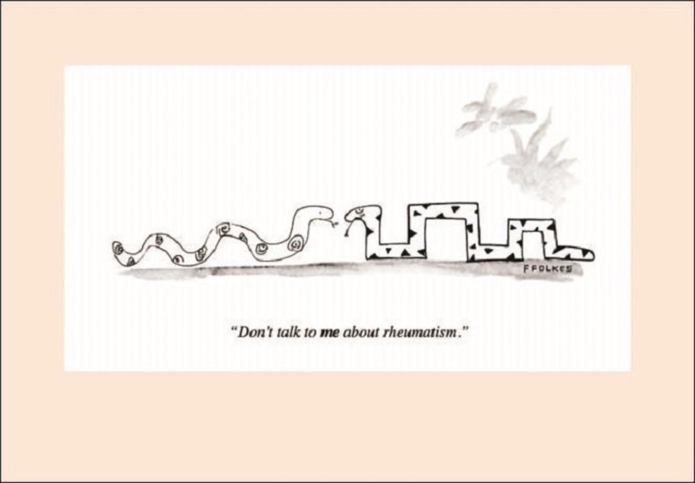 Punch Rheumatism Cartoon Humour Greeting Card