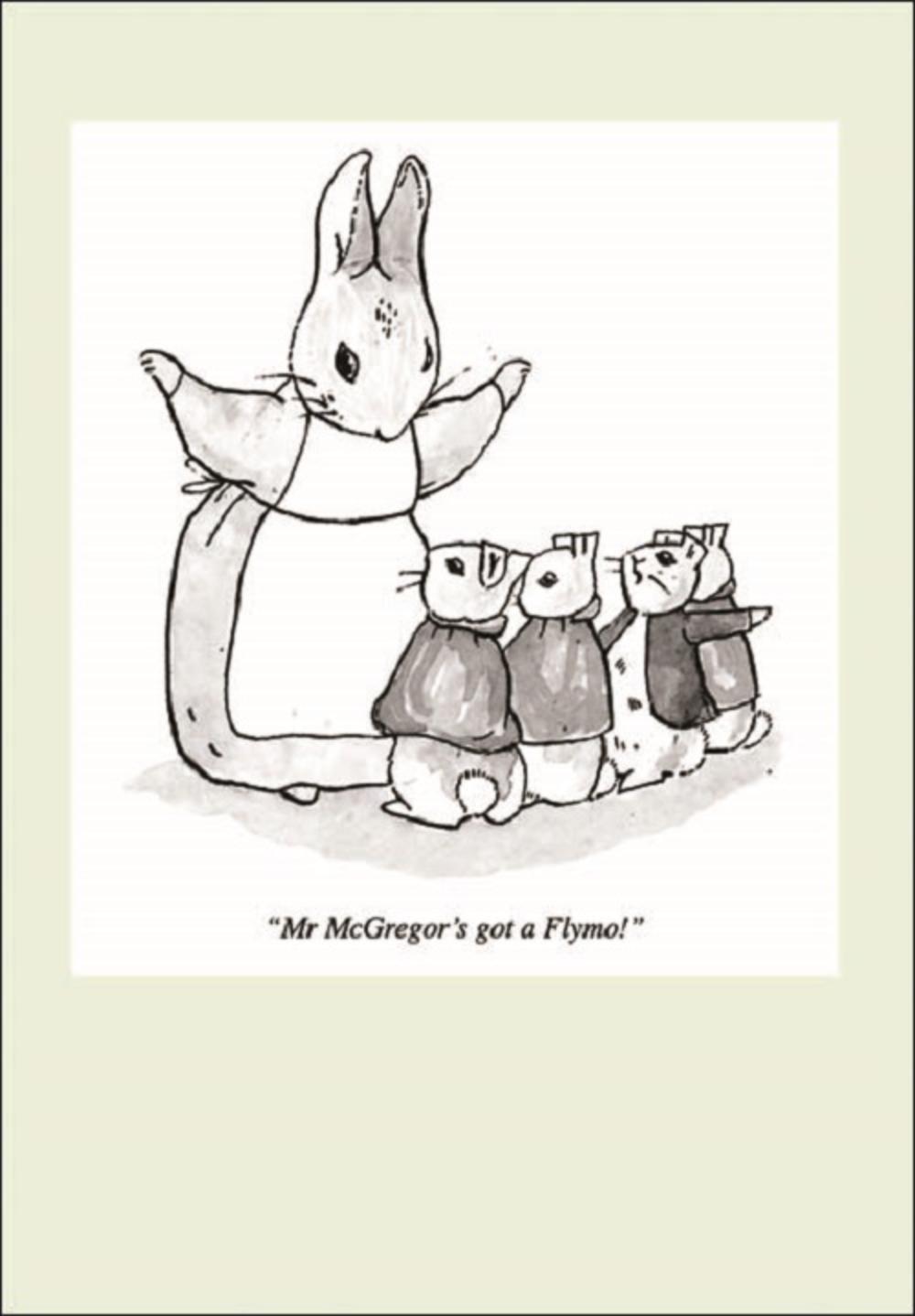 Punch Peter Rabbit Cartoon Humour Greeting Card