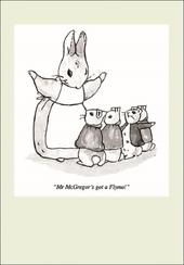 Punch Peter Rabbit Cartoon Humour Greeting Card