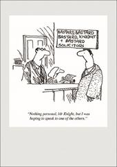Punch Solicitors Cartoon Humour Greeting Card