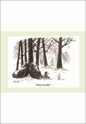 Punch Winnie Pooh Cartoon Humour Greeting Card