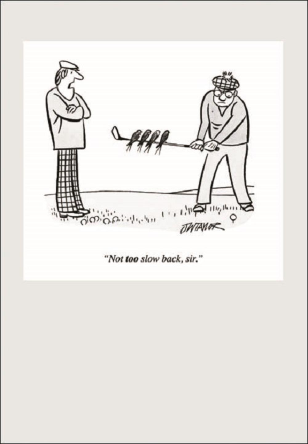 Punch Golf Cartoon Humour Greeting Card