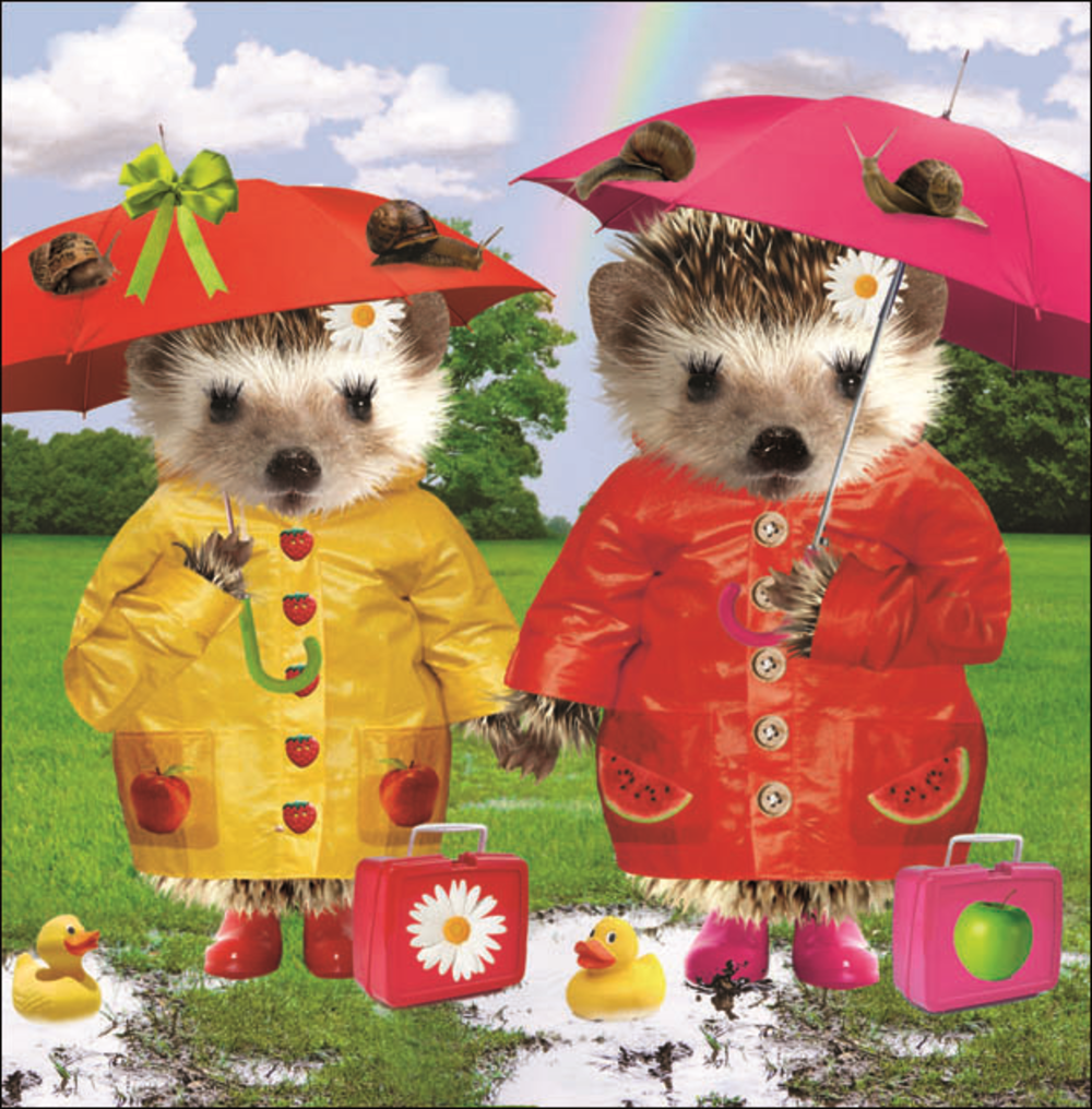 Rainy Days Square Greeting Card