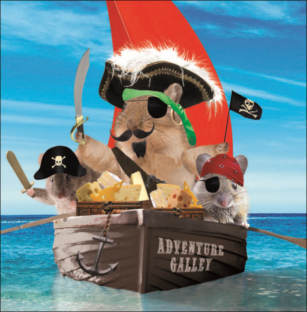 Me Hearties Square Greeting Card