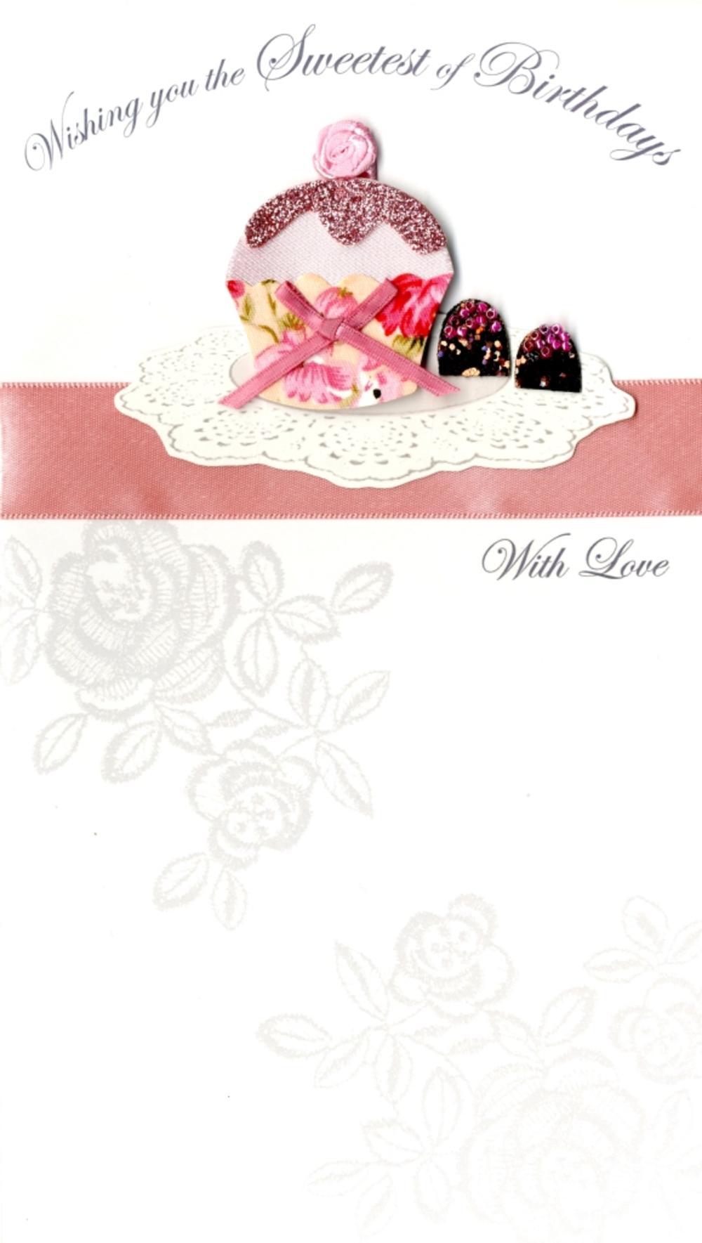 Sweet Cupcake Happy Birthday Greeting Card