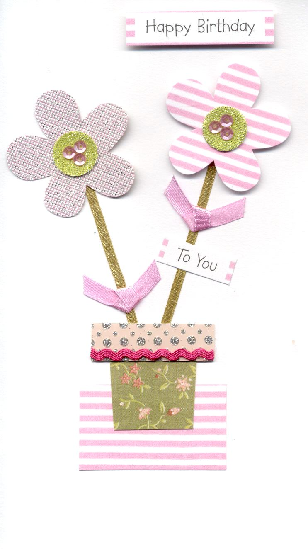 Pink flowers happy birthday greeting card cards love kates pink flowers happy birthday greeting card izmirmasajfo
