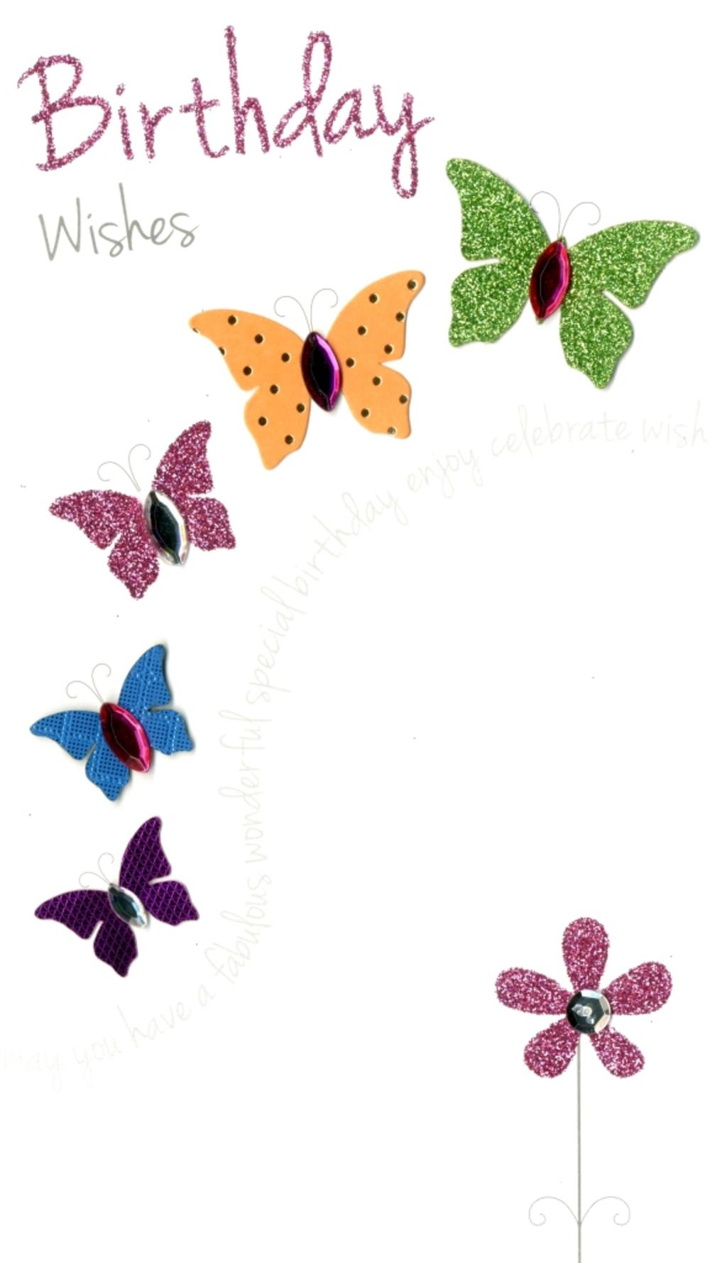 Pretty Butterfly Happy Birthday Greeting Card