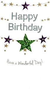 Wonderful Day Happy Birthday Greeting Card