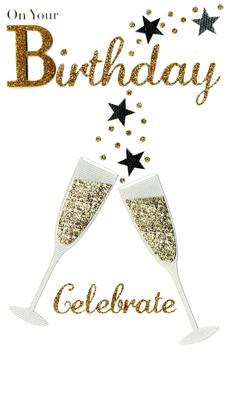 Celebrate On Your Birthday Greeting Card