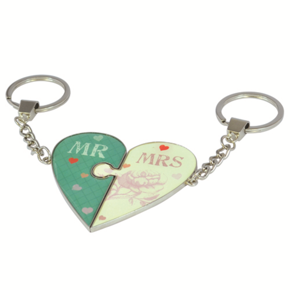 Wedding Boutique Mr & Mrs Keyrings Gift Set