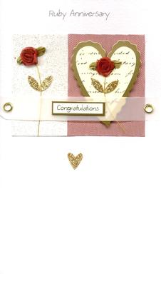Ruby 40th Anniversary Congratulations Luxury Greeting Card