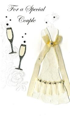 Special Couple Luxury Champagne Wedding Greeting Card