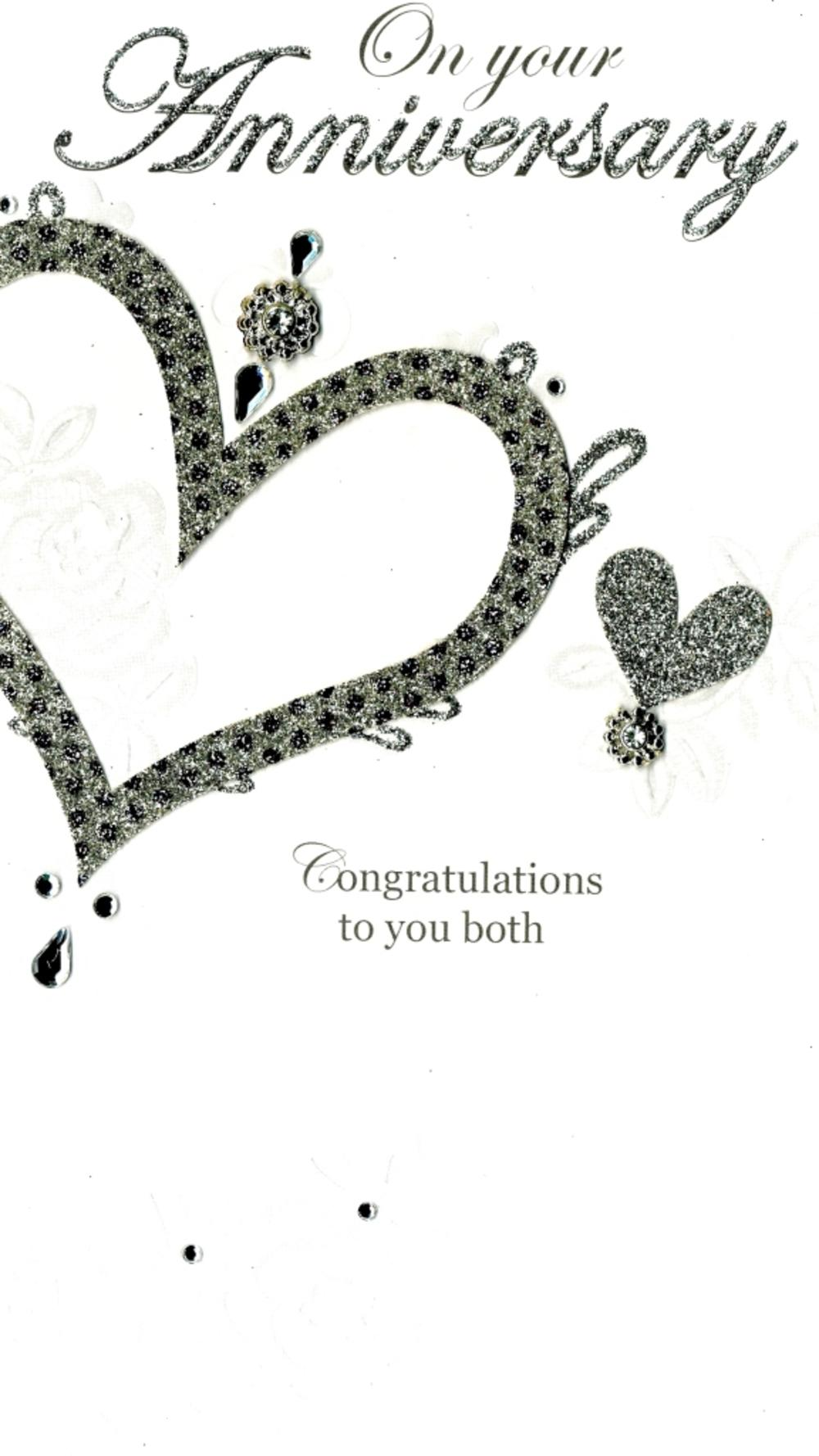 On Your Anniversary Luxury Champagne Greeting Card Hand-Finished Cards