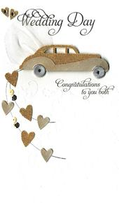 Wedding Day Congratulations Luxury Champagne Greeting Card