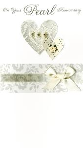 On Your Pearl 30th Anniversary Luxury Champagne Greeting Card